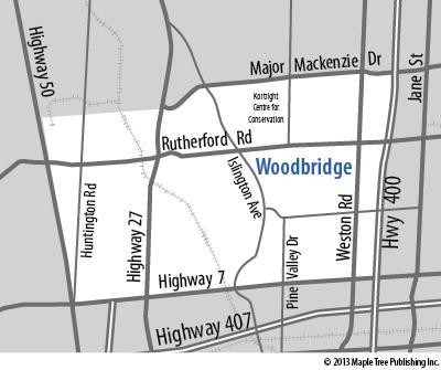 Map Of Woodbridge Ontario Canada Woodbridge   Neighbourhood Guide